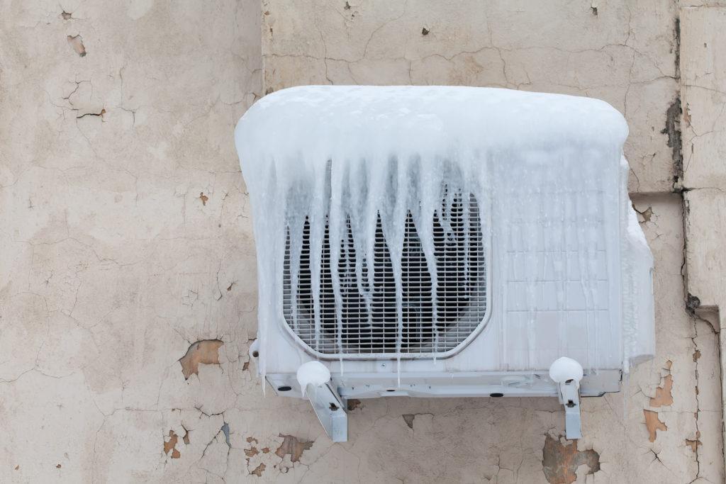 aire acondicionado congelado